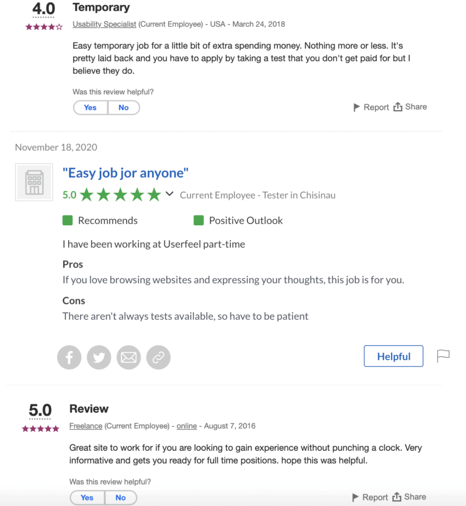 Userfeel Review Social Proof